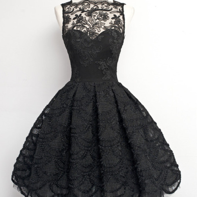 cute black dark grunge dress vintage lace lace dress prom middle earth short dress wedding sophisticated sexy floral lace fancy no sleeve the middle
