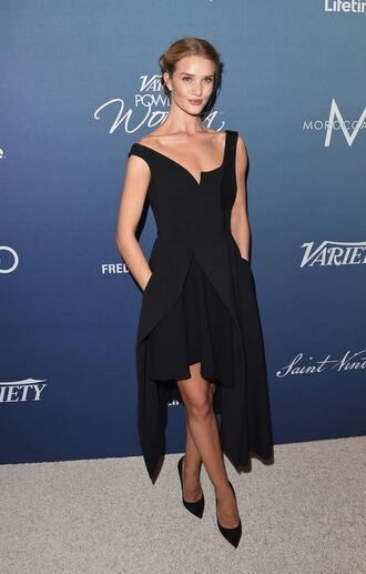 dress asymmetrical asymmetrical dress black dress midi dress rosie huntington-whiteley gown prom dress