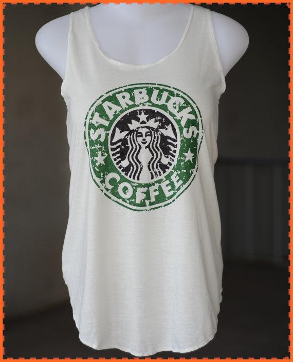 Starbuck shirt   White TShirt  lady TShirt  by chocolatesmile
