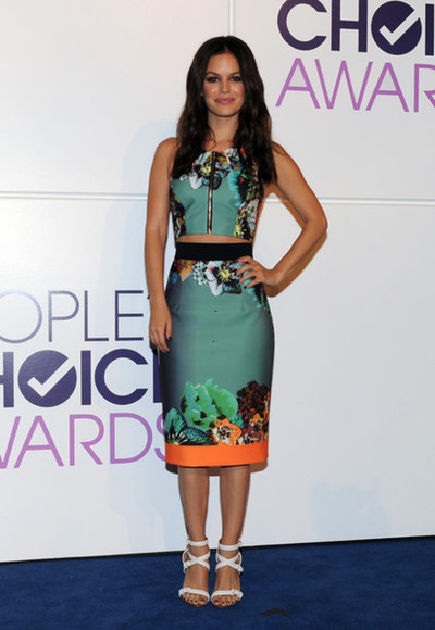 top rachel bilson crop tops skirt
