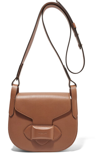 bag shoulder bag leather light brown