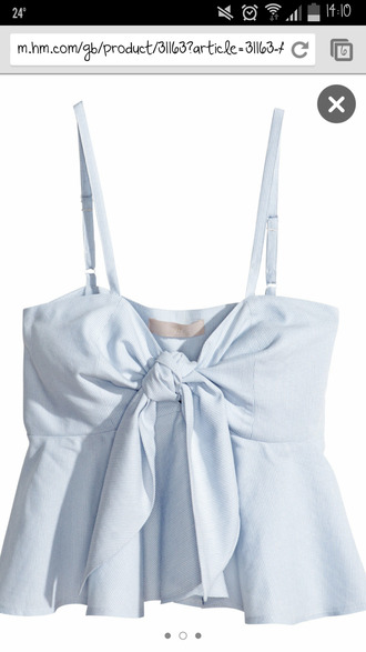 knot top knotted clothes blue white stripes bows frilly navy
