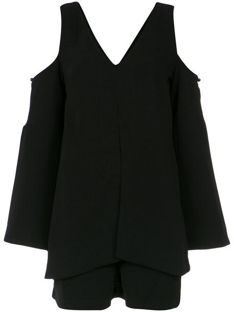 Lilly Sarti dress women spandex cold black