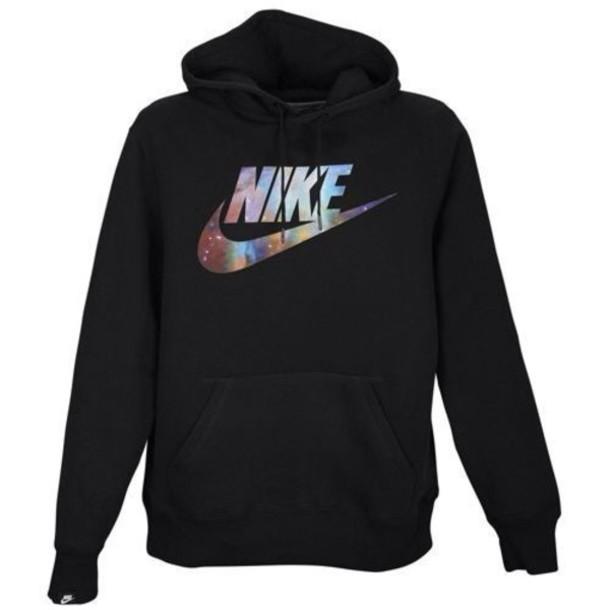 sweater nike black nike sweatshirt galaxy print