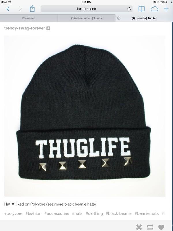 hat beanie thug life