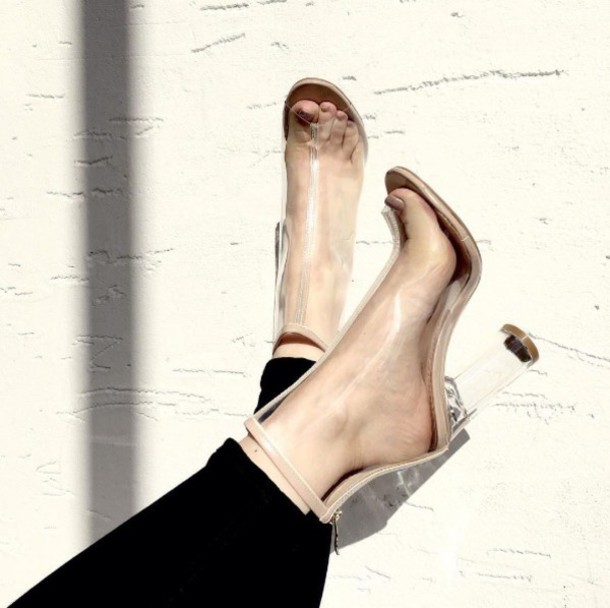 shoes public desire ankle boots boots perspex boots perspex ankle boots  white perspex boots
