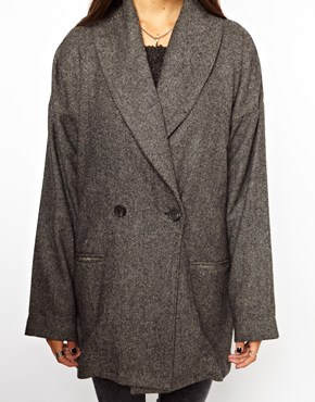 Religion | Religion Contrast Back Victorious Oversized Coat at ASOS