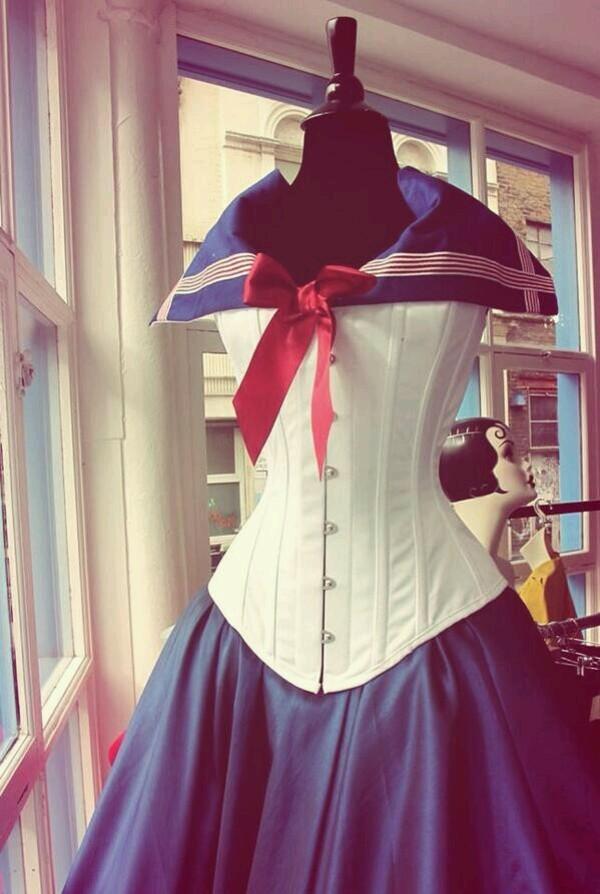 dress sailor moon sailor style corset corset dress marine