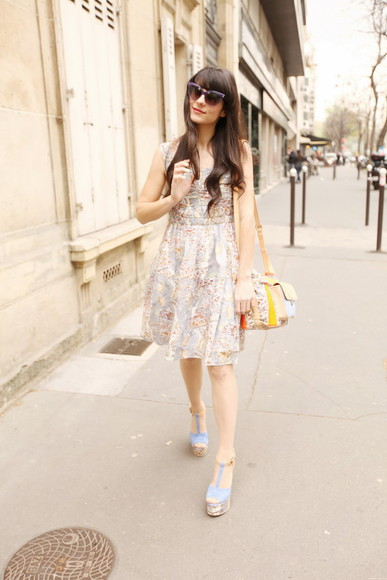 the cherry blossom girl dress bag sunglasses shoes