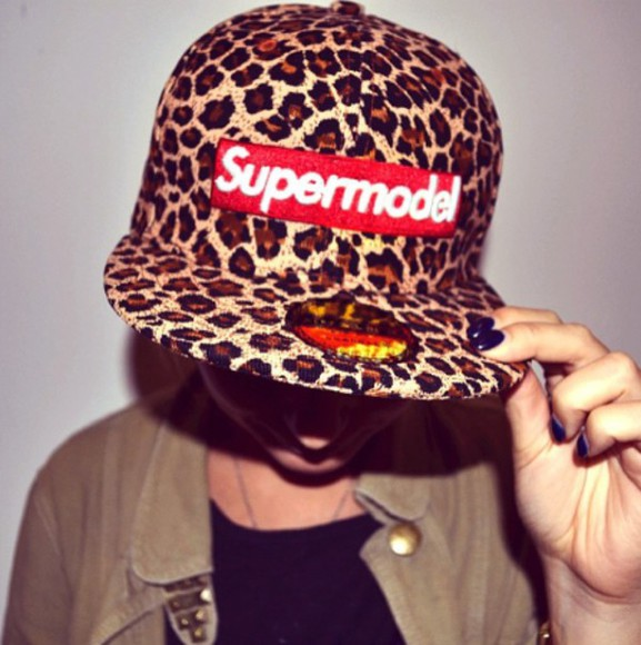 leopard print cap snapback supreme