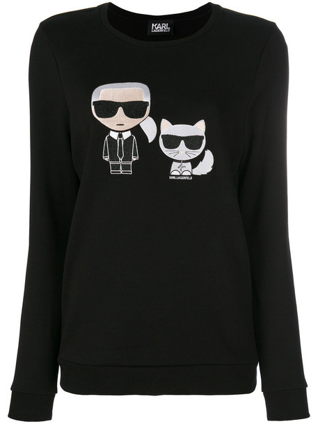 karl lagerfeld sweatshirt women cotton black sweater
