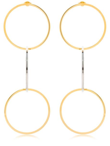 VITA FEDE Zaha Link Earrings in gold / silver