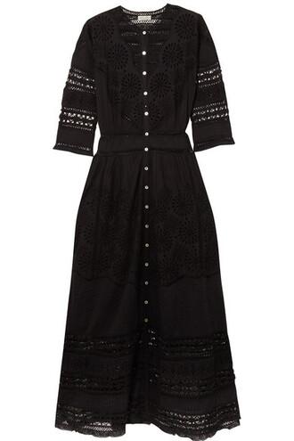dress maxi dress maxi lace cotton black