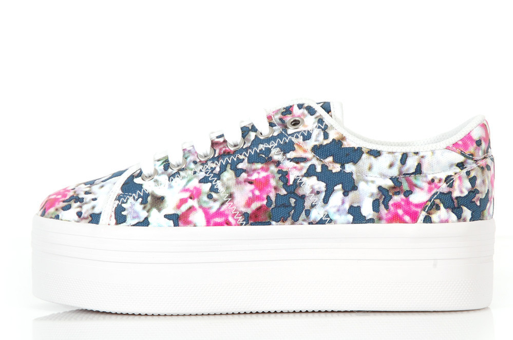 Jeffrey Campbell Zomg Sneakers Blue Floral Scarpa Con Platform Blu A Fiori | eBay