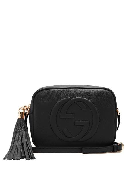 gucci cross bag leather black