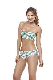 top,estivo,bikini top,strapless top,print,push up bra