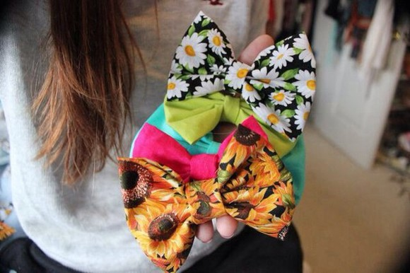 hair bow bow bows hat printed