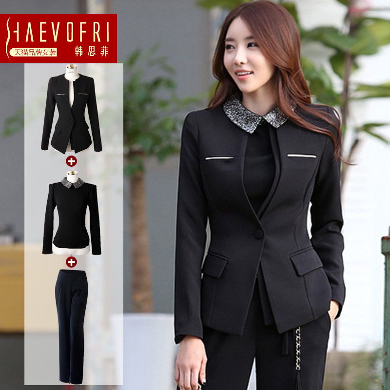 Autumn work wear women's set suit jacket western style trousers women's formal work wear-inPant Suits from Apparel & Accessories on Aliexpress.com