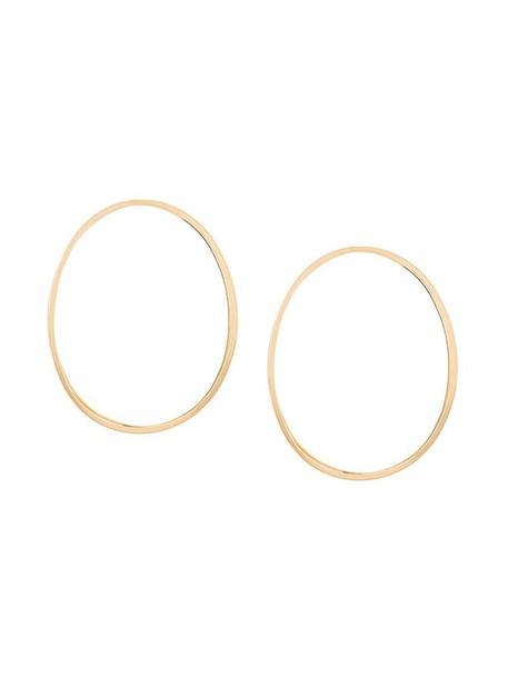 Delfina Delettrez women earrings hoop earrings gold yellow grey metallic jewels