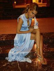 dress,light blue,blue,maxi dress,slit,beautiful