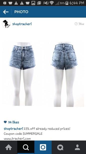 shorts blue jean shorts High waisted shorts