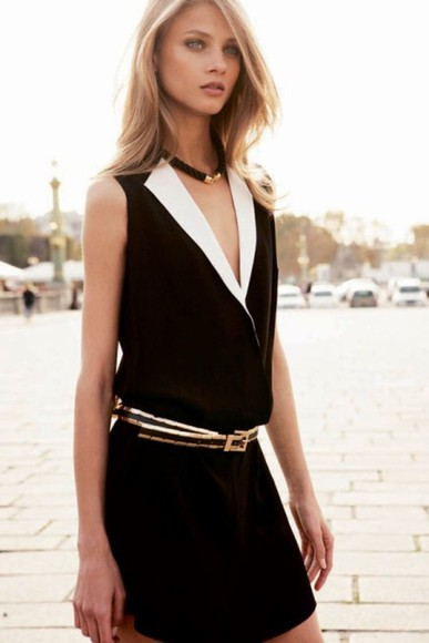 mango dress black robe dresse noir white