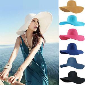 New Fashion Women Floppy Derby Hat Wide Large Brim Summer ... 85aa7bbd070
