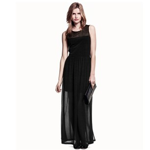 Long Dress with Double layer and Split at the Sides  - Juicy Wardrobe