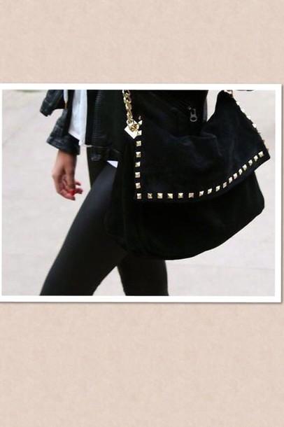 bag black studded bag