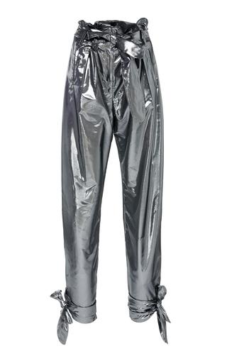 Lamè High-Rise Straight-Leg Pants by Attico | Moda Operandi