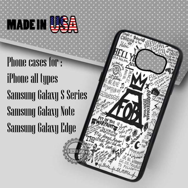Samsung S7 Case - Lyrics Collage Fall Out Boy- iPhone Case #SamsungS7Case #fob #yn