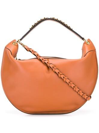 zip bag shoulder bag nude
