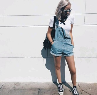 shirt denim overalls overalls bag
