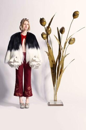 jacket pants rodarte paris fashion week 2017 fashion week 2017 top fur