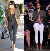 jacket,kim kardashian,bomber jacket,fashion,fall outfits,fall jacket