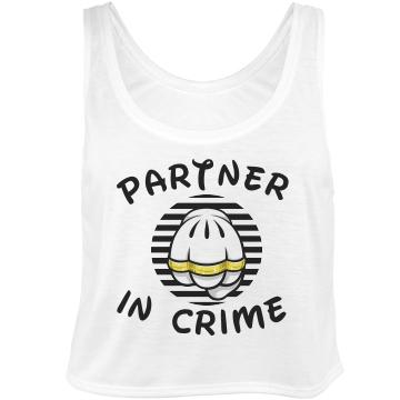 Partner In Crime 2: Custom Bella Flowy Boxy Lightweight Crop Top Tank Top - Customized Girl