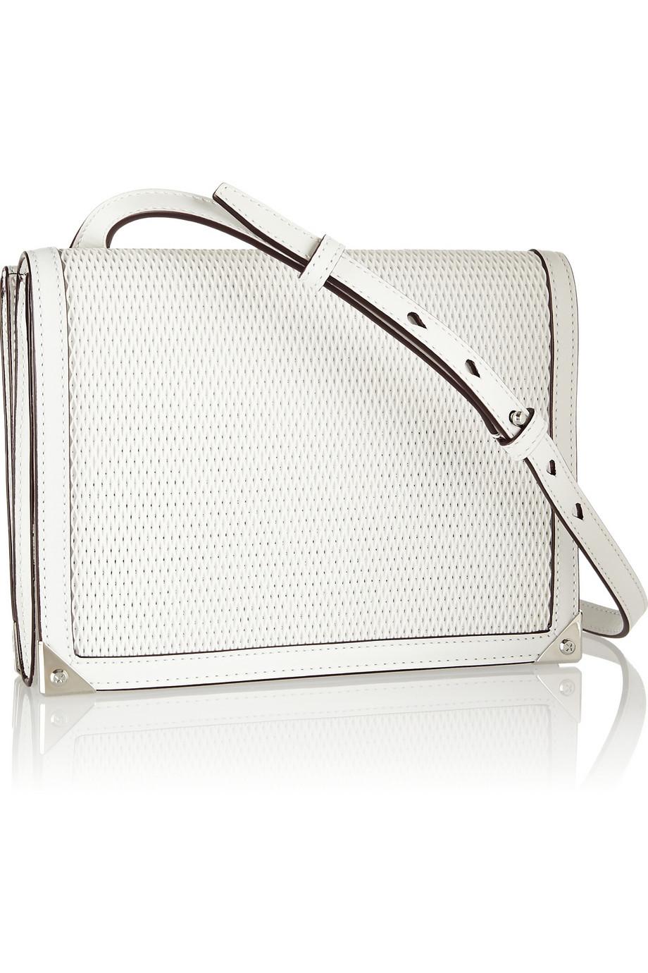 Alexander Wang Prisma Double Envelope mesh-effect leather shoulder bag – 57% at THE OUTNET.COM
