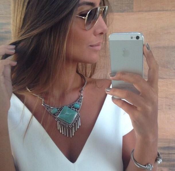 jewels necklace boho jewelry turquoise jewelry boho silver necklace boho jewelry