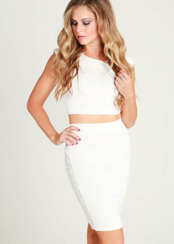 dress ustrendy top ustrendy skirt ustrendy white outfit summer outfits