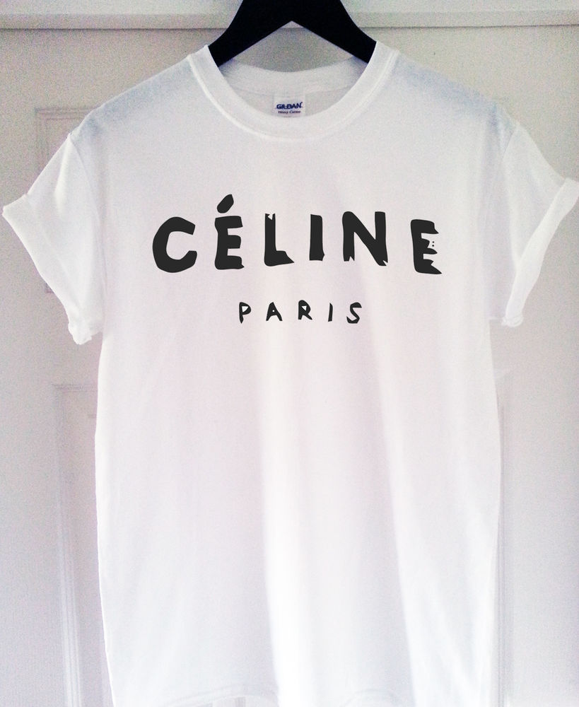 *****CELINE PARIS T SHIRT RIHANNA TOUR COMME HYPE GEEK TEE SHIRT TOP ***** | eBay