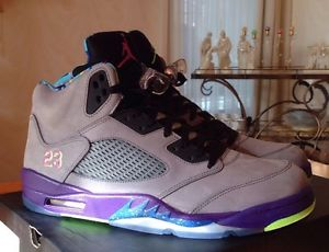 Air Jordan 5 Retro Bel Air Gray Pink Purple Green | eBay