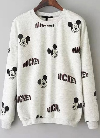 sweater cute mickey mouse black and white