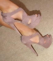 shoes,high heels,pink heels,nude pumps,nude high heels,suede nude,heels,nude,strappy heels,nude peep toes suede heels