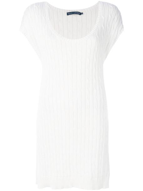 Ralph Lauren dress mini dress mini women white cotton knit