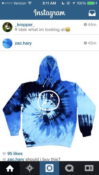 cute blue color jacket tyedye jacket,hoodie,sweatshirt,black sad