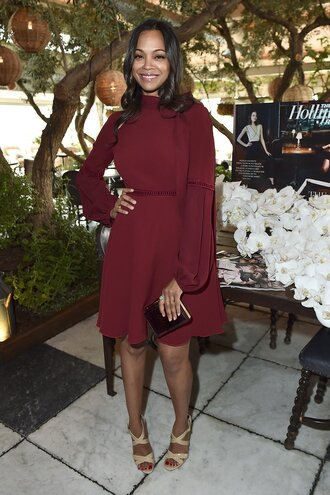 shoes sandals sandal heels zoe saldana dress
