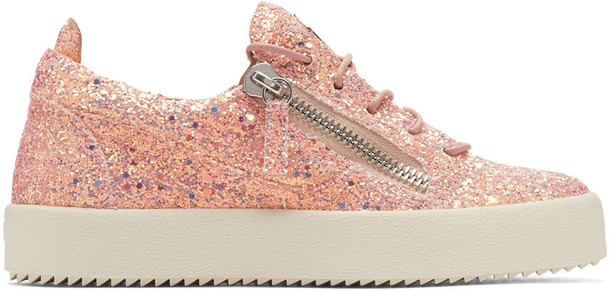 glitter london sneakers pink shoes