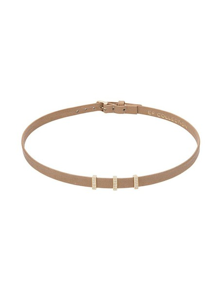 EF COLLECTION mini women triple gold leather nude jewels