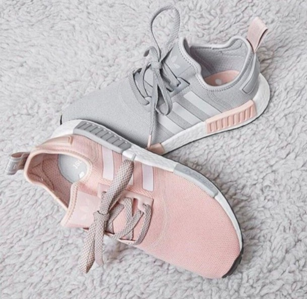 Shoes Grey Adidas Nmds Pink Wheretoget