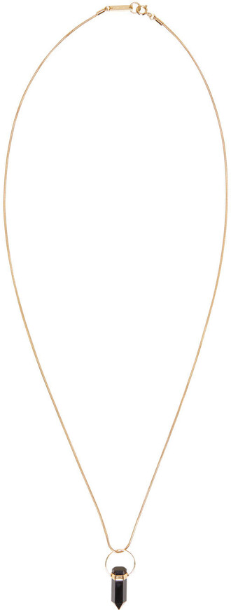 necklace gold black jewels